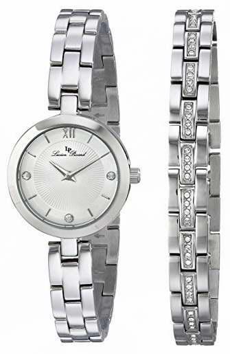 历史新低!Lucien Piccard LP-10050-22S-SET 女士时尚石英腕表+不锈钢水晶手链套装1.9折 22.85加元限时清仓!