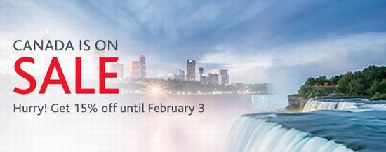 Air Canada 加航 限时闪购!加拿大境内航线机票全面8.5折!