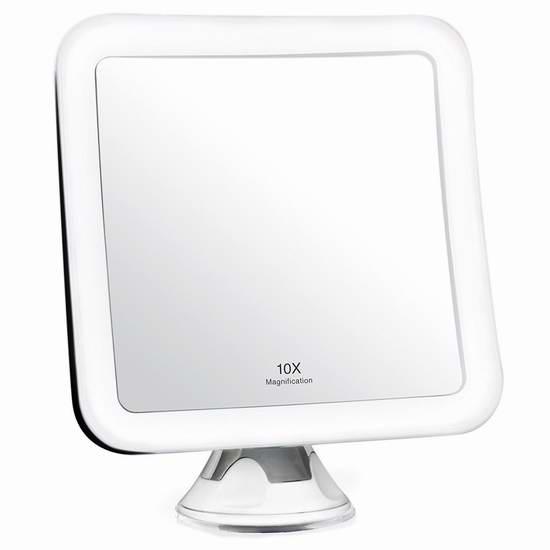 Fancii 10倍放大360度旋转LED照明化妆镜 27.99加元限量特卖并包邮!