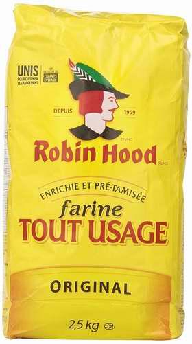 历史最低价!Robin Hood 天然中筋通用面粉2.5公斤装 3.97加元限时特卖!
