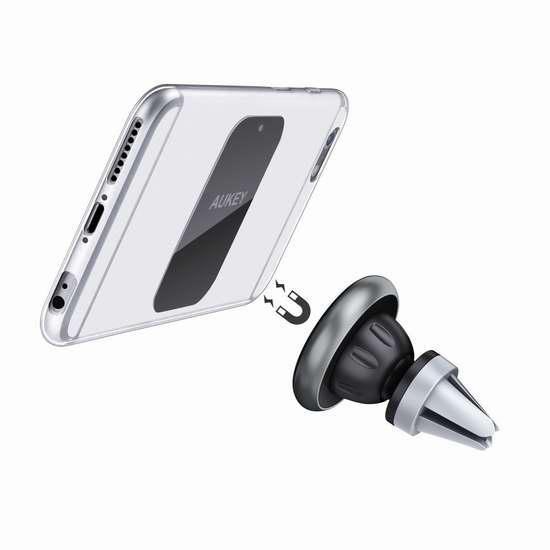 AUKEY 磁吸式汽车手机万用座 8.49加元限量特卖!