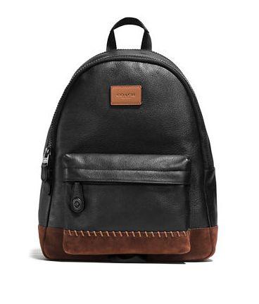 COACH Modern 时尚现代风条纹粒面真皮双肩背包4.5折 308.25加元限时特卖并包邮!