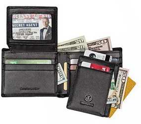 TRAVAMI RFID 防盗男士真皮钱包5折 24.95加元限量特卖并包邮!
