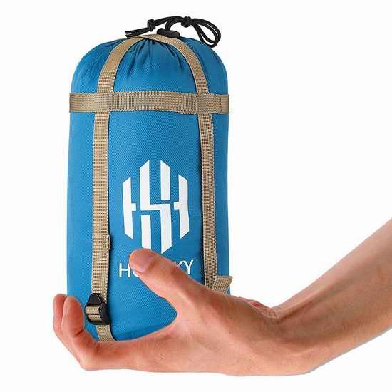HOT SKY 超轻超便携户外野营睡袋 19.99加元限量特卖!