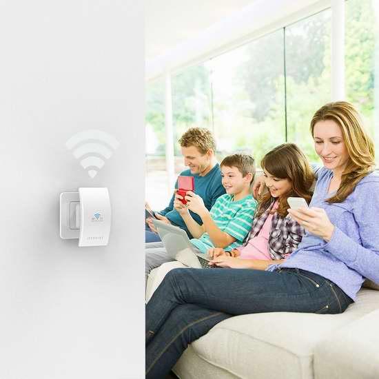 独家!dodocool 300Mbps 通用无线wifi信号延伸/中继器 19.5加元!