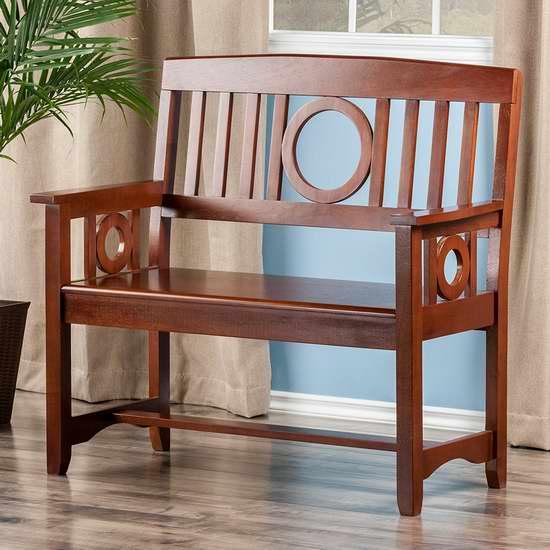 历史新低!Winsome Wood Ollie 实木长椅/门厅座椅 143.24加元限时特卖并包邮!