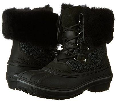 Crocs AllCast II 女式豪华羊毛真皮冬靴(5-7码)2.7折 43.31加元起限时特卖并包邮!