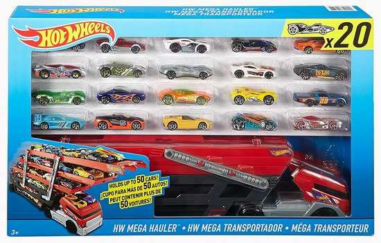 历史最低价!Mattel DRB32 风火轮汽车运输车+20小车超值套装 27.67加元限时特卖!