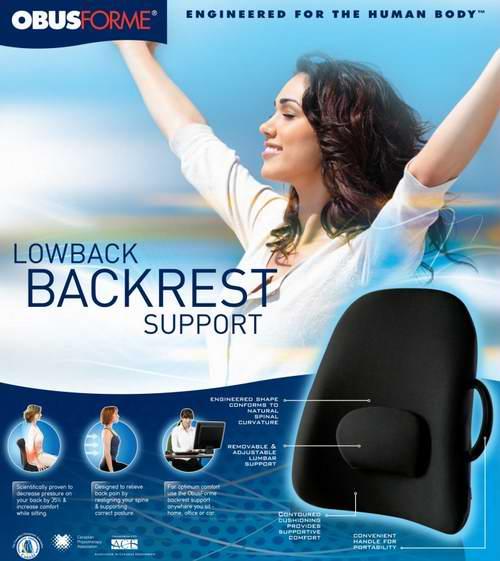 Obusforme Lowback 健康低背靠垫 55.97加元限时特卖并包邮!