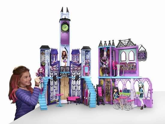历史新低!Monster High Deadluxe 怪物高中超大玩具世界2.5折 50加元限时清仓并包邮!