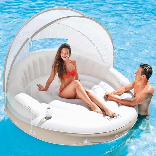 Intex Canopy Island 豪华超大水上沙发5.9折 99.99加元包邮!