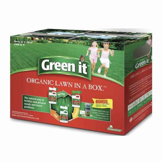 Green it 有机草坪养护肥料(春夏秋)套装 41.6加元限量特卖并包邮!