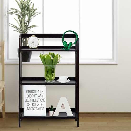 售价大降!历史新低!Casual Home 337-33 可折叠 三层实木书柜/收纳架3.8折 44.76加元限时清仓并包邮!