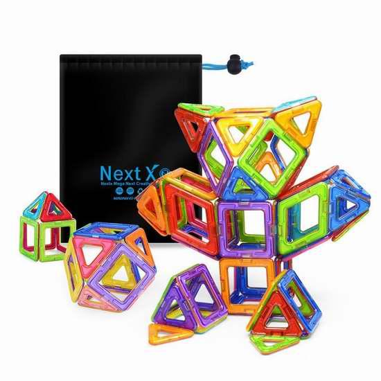 NextX 益智磁力积木64片套装 36.54加元限量特卖并包邮!