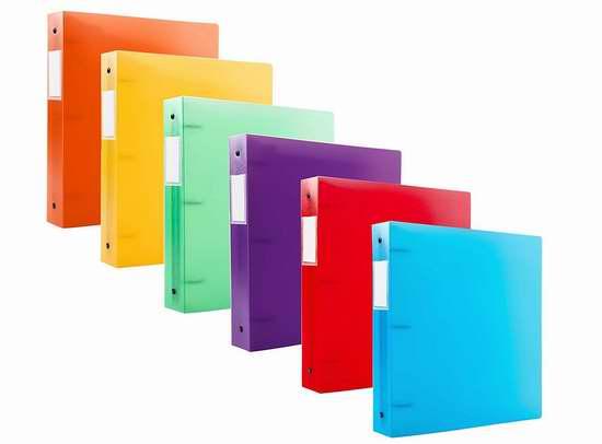 Filexec 6492 彩色3环文件夹6件套超值装2.7折 8.31加元限时清仓!