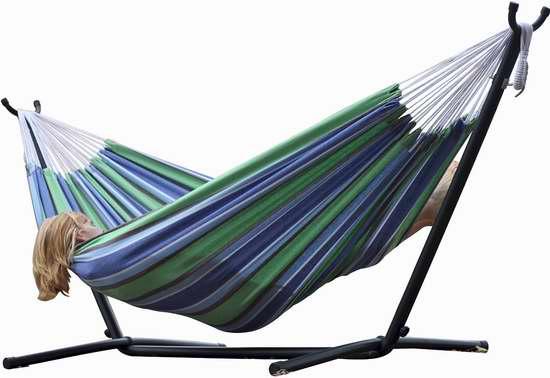 Vivere UHSDO9-24 双人吊床+金属支架套装5.3折 111.99加元限量特卖并包邮!