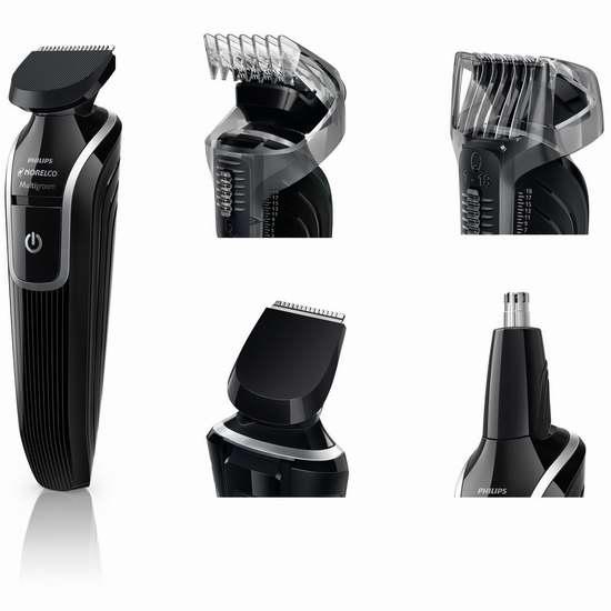 历史新低!Philips 飞利浦 Norelco QG3330/60 干湿两用 充电式多功能理发修剪器 25.2加元限时特卖!