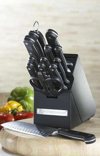 歷史最低價!Lagostina 拉歌蒂尼 MOV 不鏽鋼刀具15件套5.2折 99.99加元限時特賣並包郵!