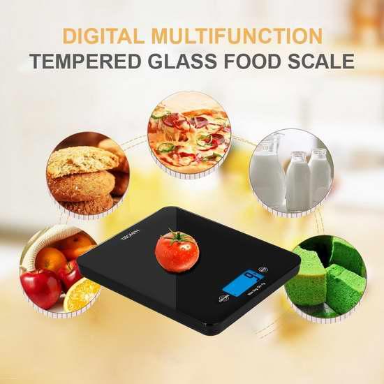 Triomph 多功能钢化玻璃数字厨房秤 16.14加元限量特卖!