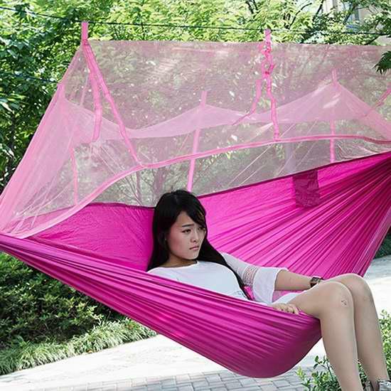 GBlife 便携式单人吊床+蚊帐套装 29.74加元限量特卖!9色可选!