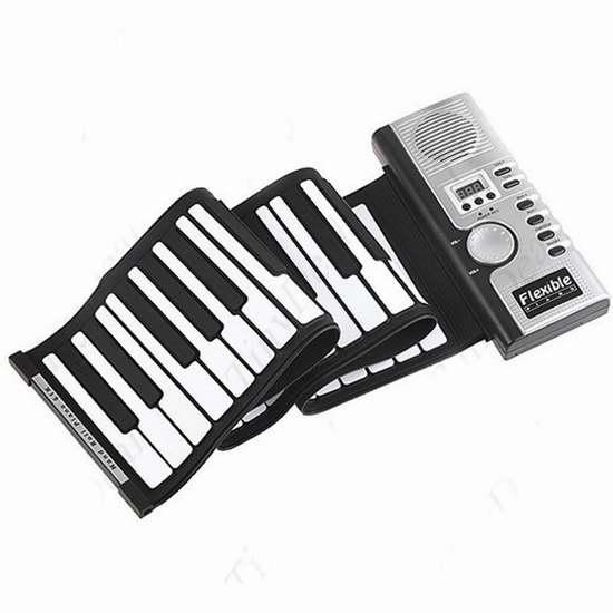 Alizzee 便携手卷式61键电子琴 22.09加元限量特卖并包邮!