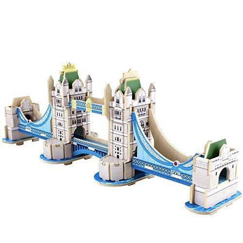 Lucky Panda 伦敦塔桥 实木3D拼装积木套装3.9折 13.59加元限量特卖并包邮!