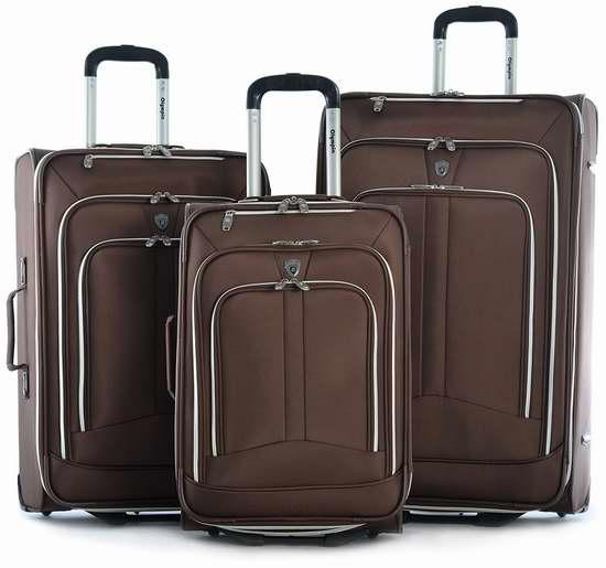白菜价!历史新低!Olympia Hamburg 可扩展拉杆行李箱3件套 98.41加元限时清仓并包邮!
