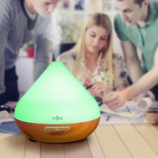 Anjou 300ml 超声波精油香薰/加湿器,内置7彩液晶灯 36.54加元限时特卖并包邮!