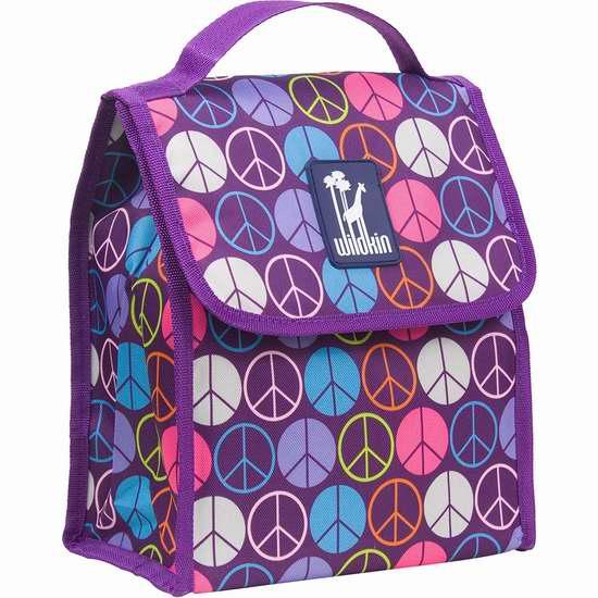 历史新低!Wildkin Peace Signs Munch N 紫色午餐保温包4.2折 8.77加元限时特卖!