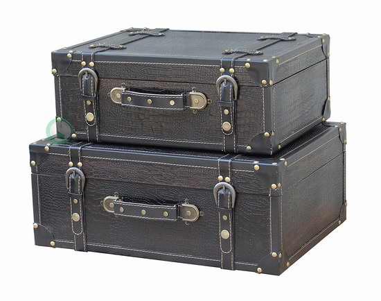 历史新低!Vintiquewise 复古皮箱两件套4.3折 88.92加元限时特卖并包邮!