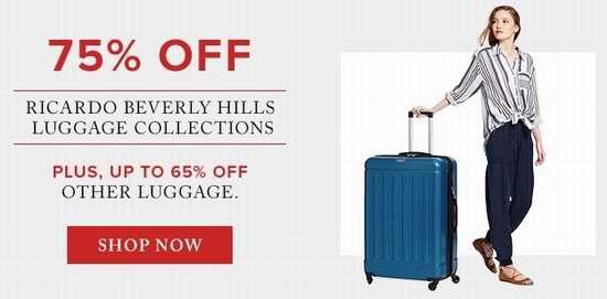 今日闪购:精选多款 Samsonite、Ricardo Beverly Hills、Swiss Gear 等品牌拉杆行李箱2.5折起限时特卖!