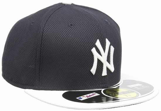 历史新低!New Era Cap 59FIFTY 纽约洋基队 平沿棒球帽2.8折 11.02加元限时清仓!