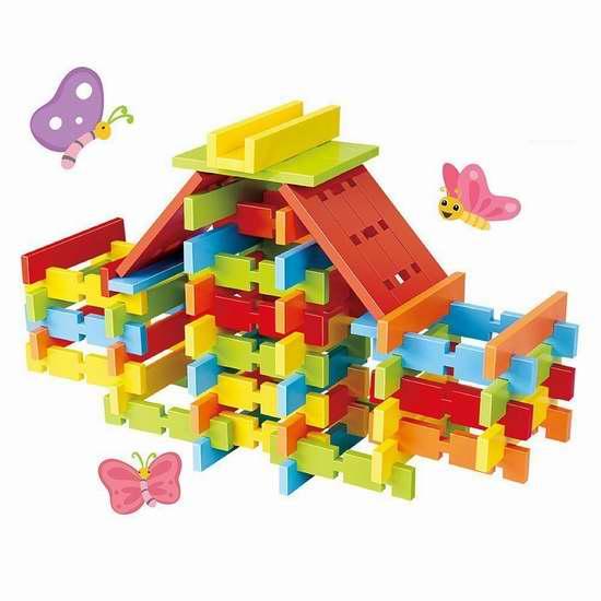 Wishland 小小建筑师彩色积木120件套 33.99加元限量特卖并包邮!