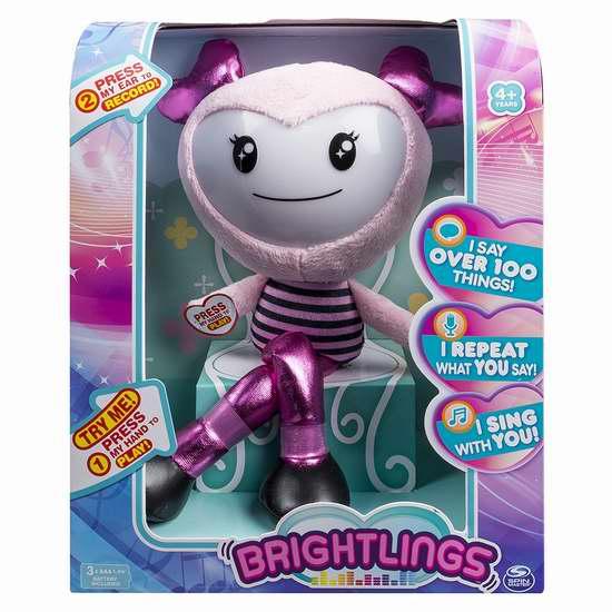 历史新低!Spin Master Brightlings 15英寸智能互动毛绒娃娃3.5折 15.93加元限时清仓!