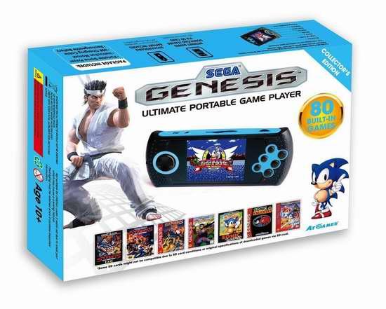 SEGA 世嘉 GENESIS 终极便携式80合一掌上游戏机 109.49加元限量特卖并包邮!
