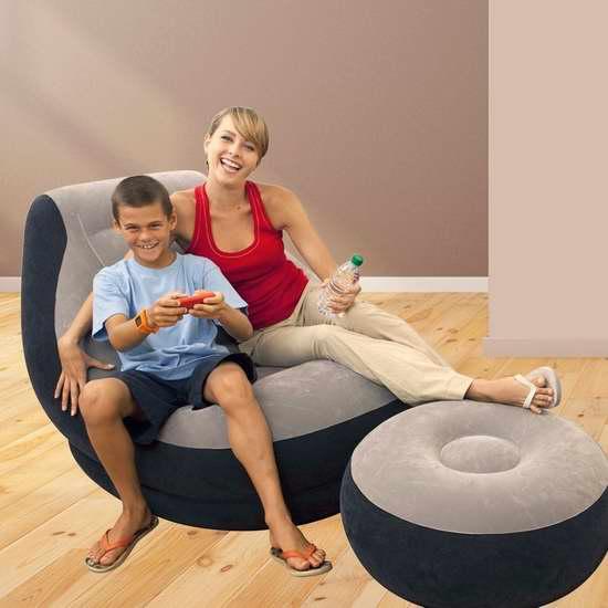 近史低价!Intex 便携式快速充气沙发+脚踏凳套装4.3折 24.94加元!