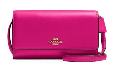 白菜价!COACH Crossbody 女士真皮时尚手机包/斜挎包4折 68加元限时抢购!