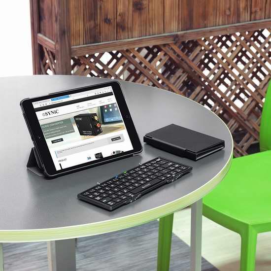 ESYNIC 可折叠便携式蓝牙无线键盘 30.59加元限量特卖并包邮!