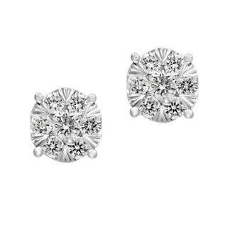 EFFY 14K白金钻石耳钉 847.87加元(0.52 TCW),原价 2850加元,包邮