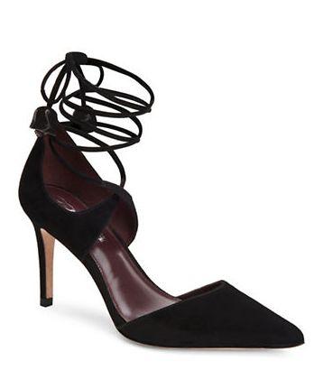 COACH Shae麂皮系带高跟鞋 150.45加元(6,8,10码),原价 295加元,包邮