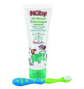 Nuby Citroganix 幼儿牙膏+牙刷套装 6.99加元特卖!