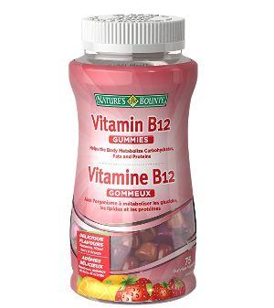 Nature's Bounty 自然之宝 维生素B12 软糖  4.18加元(75粒),原价 9.27加元