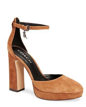 COACH Chrystie 时尚真皮高跟鞋 159加元(2色),原价 265加元
