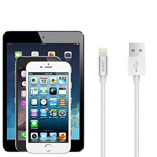 苹果MFI认证!AUKEY Lightning to USB 数据线 11.99加元限量特卖( 3.95英寸),原价 14.99加元