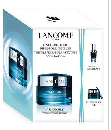 Lancome 兰蔻 Visionnaire Crème 微修面霜+升级版小黑瓶 3件套 94加元,原价 114加元,包邮