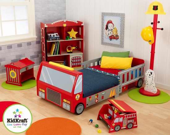接近史低价!KidKraft 76021 消防车造型 Toddler 幼儿床6.7折 154.99加元包邮!