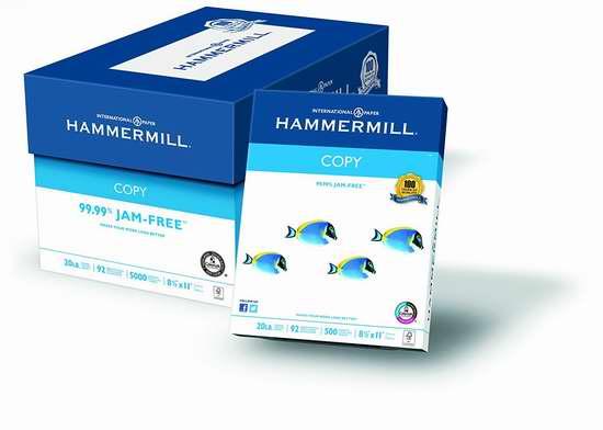 历史新低!Hammermill 20-Pound 复印打印纸5000页 41.99加元限时特卖并包邮!