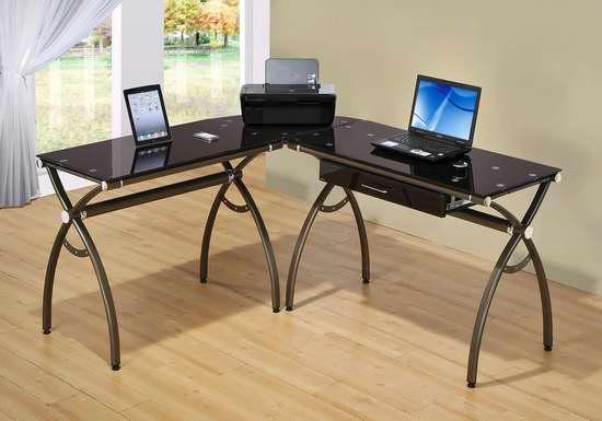 历史新低!Seville Classics L型钢化玻璃办公桌3.4折 172.69加元限时特卖并包邮!
