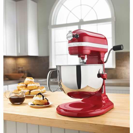 历史最低价!KitchenAid 专业系列 KL26M1XER 6夸脱1马力超大功率 立式多功能搅拌厨师机4折 299.99加元包邮!3色可选!