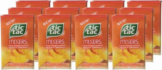 历史新低!Tic Tac Mixers 水蜜桃柠檬味 嘀嗒糖12盒超值装 11.12加元限时特卖!